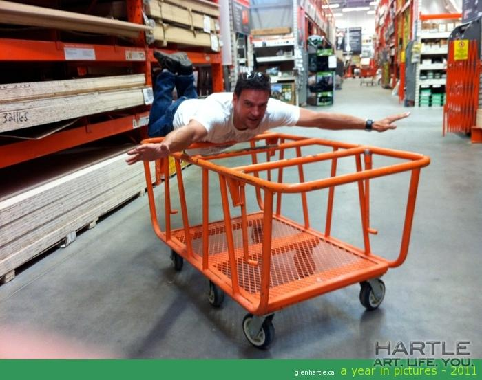 Shopping detail at Home Depot — very serious endeavour…