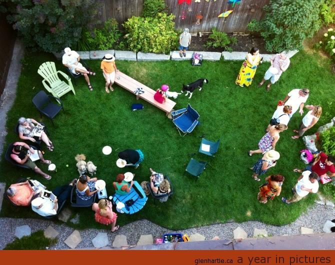 John's BBQ with the theatre crew