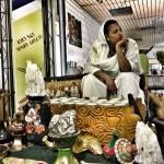 Ethiopian coffee bar ~ sitting on stools having GREAT coffee