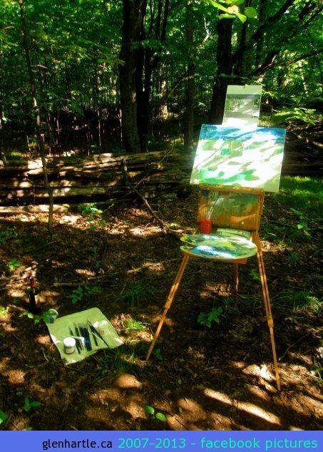 1st week – Painting oasis