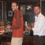 Making turkey (Louis) and pumpkin pie (Glen)
