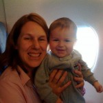 ISN'T HE ADORABLE! Sharon and son Kyle were my row-mates on the flight to Lauderdale