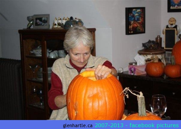 Mom's first pumpkin … EVER.  WTF!