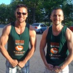 T-30 minutes. These are the running shirts our entry merits. They look more like muscle shirts so…….grrrrrrrr. Crazy atmosphere here in Ancaster.