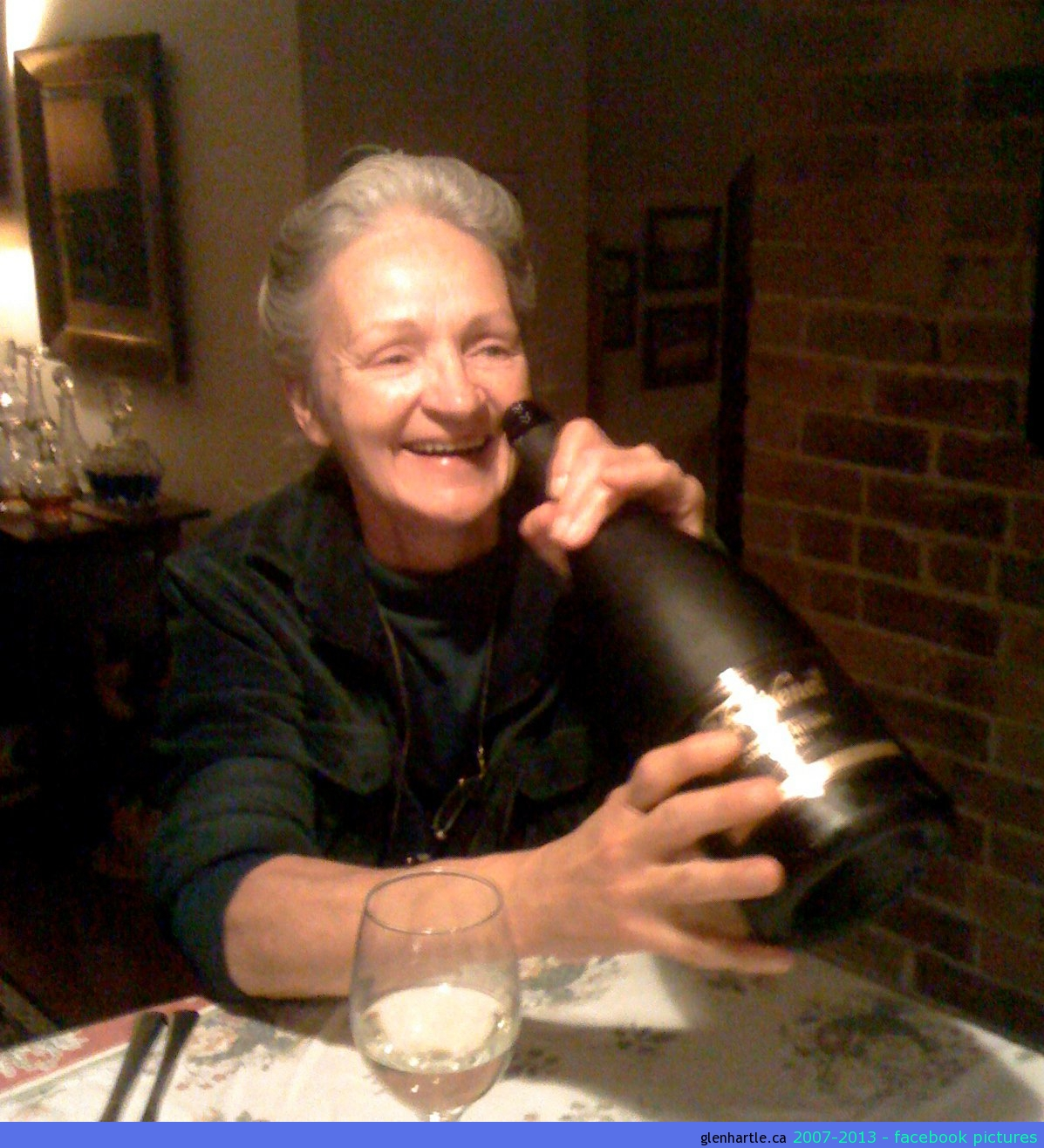 mom got RIGHT into the champagne…