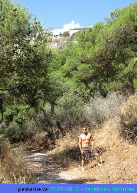 We hiked up one of the mountains in Athens. Very warm and sweaty…