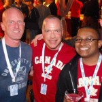 the first party was the launch party (maybe the wrong name) and everyone was encouraged to wear a shirt from their home town/country. we all had canada/ottawa shirts.