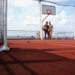 these ships have everything including a fullsize basketball court somewhere up top. joseph beat me 2-1 at a game of 21