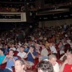this is pretty much the image i had from on stage.  3 levels of spectators hooting, hollering, and laughing