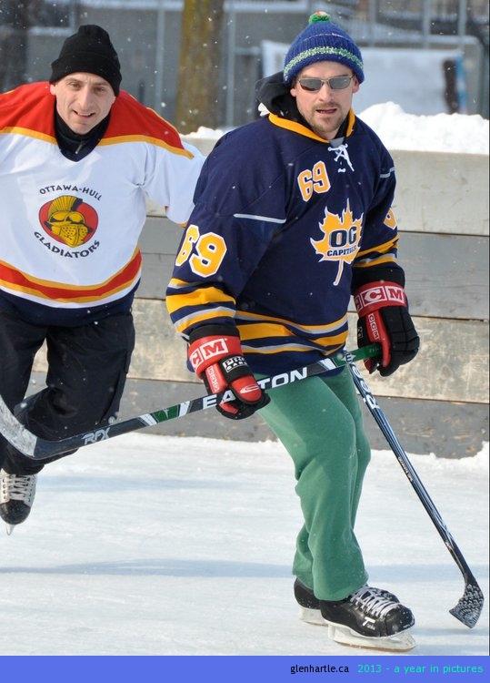 FINALLY! A hockey pic where i don't look like a dork![Photo by Myles]