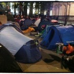 We then capped the evening with a stroll around the Abbey and down to Buckingham Palace. Tents and people EVERYWHERE!!