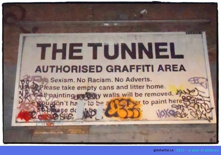 They will come. They will draw. Why not make it legal? I love it! And the whole tunnel has clearly received much attention.