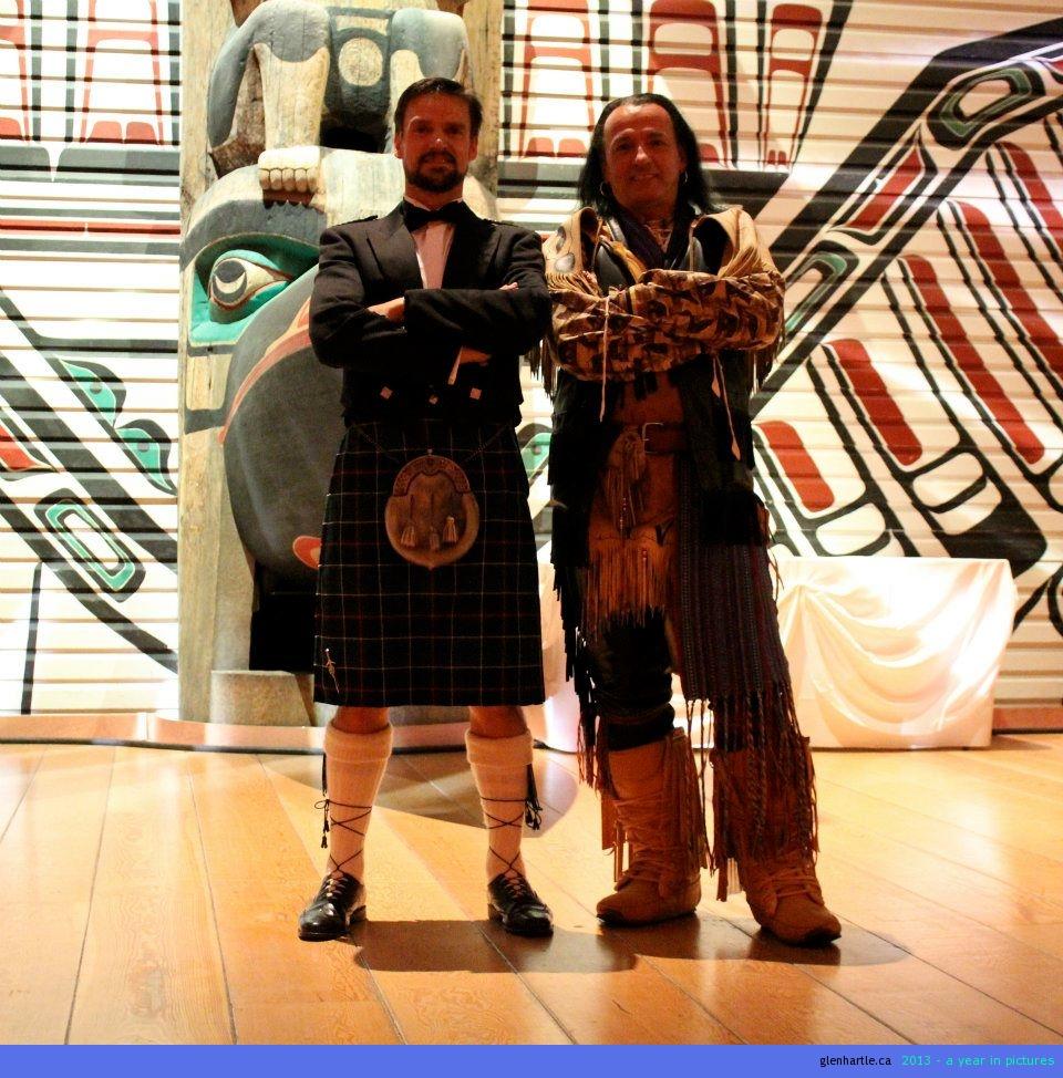 Chief McHartle and Chief Kwigamo.