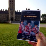 Sitting front row on parliament hill holding the official program with a photo by Glendon James Hartle :)