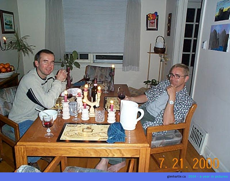 dave and steve at the table