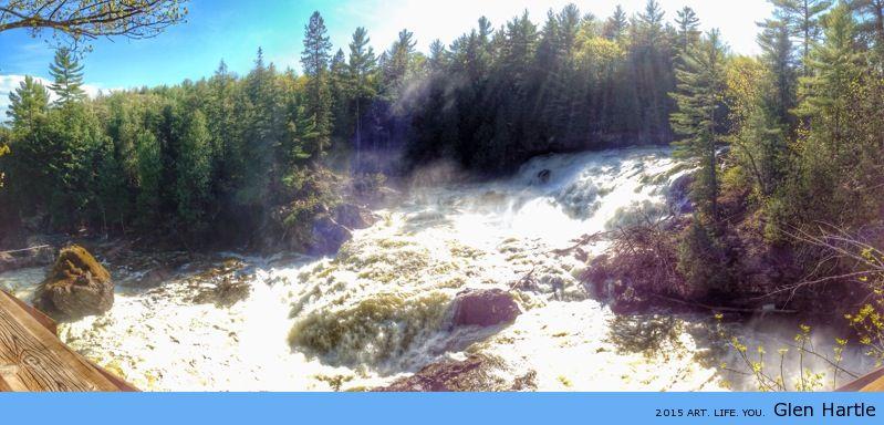 The falls at Plaisance