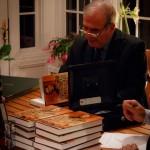 A memorable evening ~ Hal dedicating books