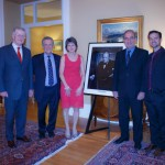 "The British High Commissioner, Howard Drake, Ron Cohen, Mrs. Gill Drake, Hal Klepak and Glen Hartle ~ an Evening With Hal Klepak presenting ""Churchill Comes of Age: Cuba 1895"""