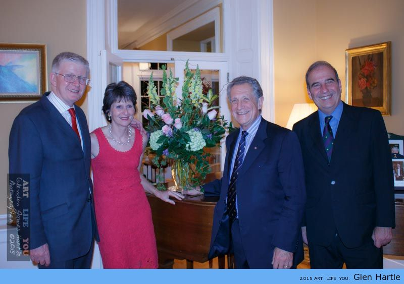 The British High Commissioner, Howard Drake, Ron Cohen, Mrs. Gill Drake and Hal Klepak
