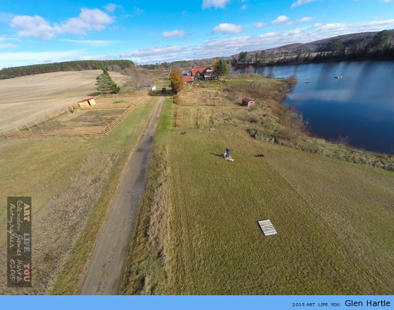 The GoPro and drone have proven useful when mapping out new ideas and such…