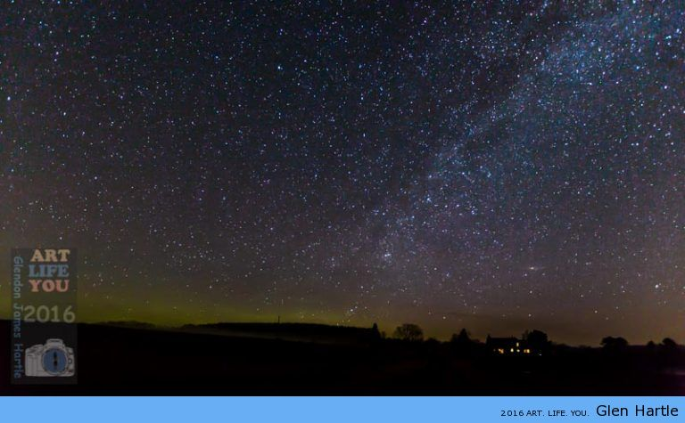 A medley of the northern lights, the Milky Way and Andromeda