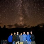 Part of the hiking group beneath the Milky Way :)