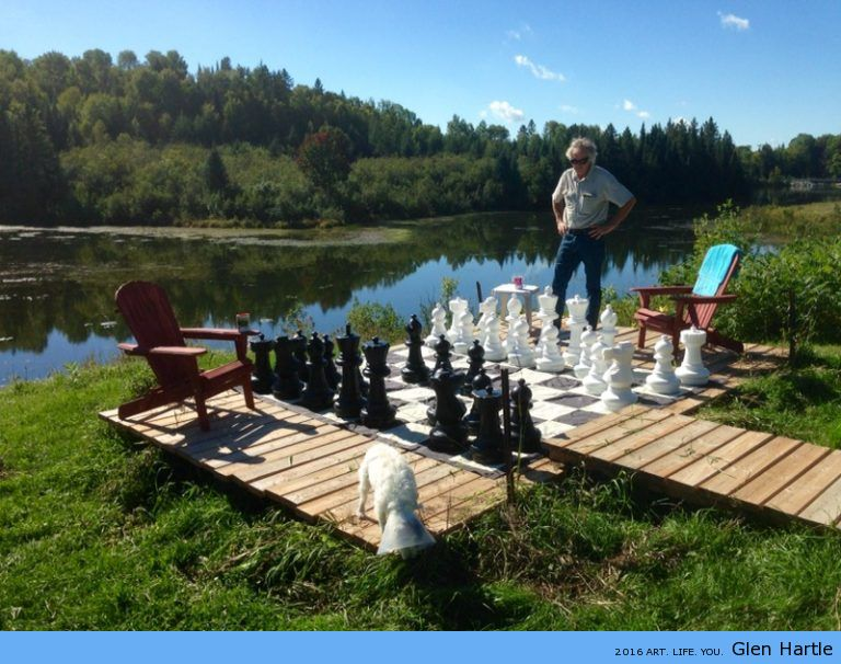 Giant chess lakeside ~ great start to the day.