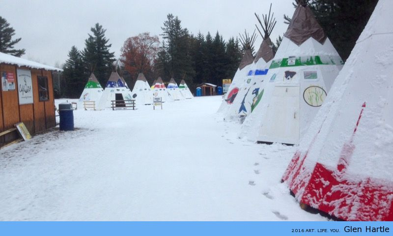 Teepee in the snow :)