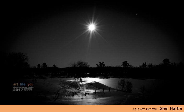The flashlight moon.