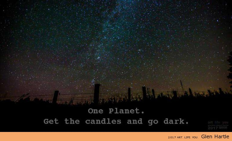 Get the candles – let's make a night of it :) #earthhour