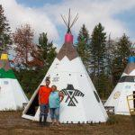 We're back! Teepee touch-ups.