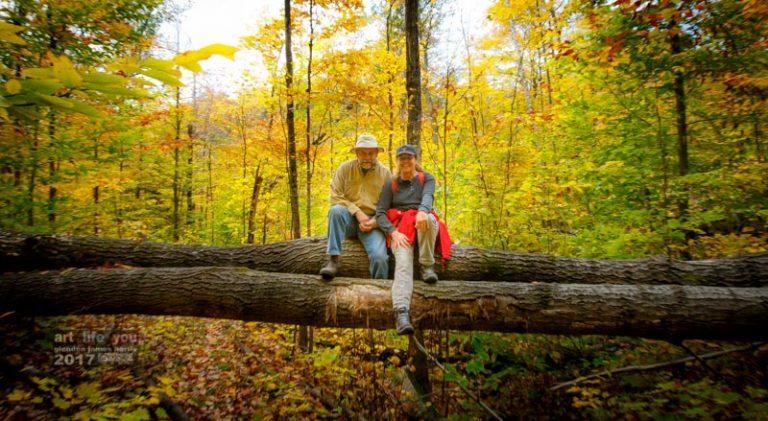 Chuck & Amber on the escarpment