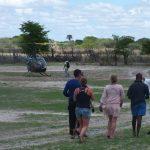 Helicopter bound ... Botswana