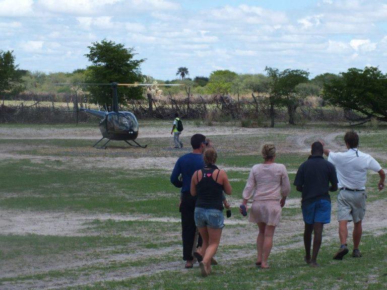 Helicopter bound … Botswana