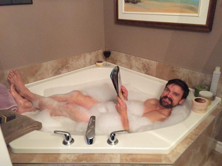 Today's simple joy? A hot bath.