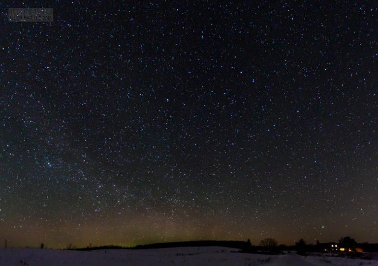Lady Aurora and a gazillion stars