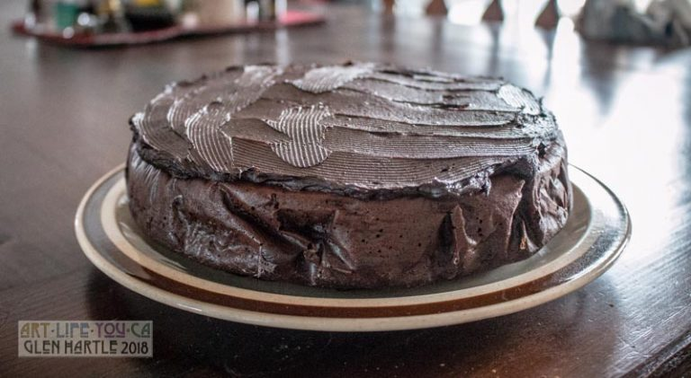 """I made a """"Naked Chef Cake"""" yesterday :) Well … actually, I misread the recipe but it was fun to make."""