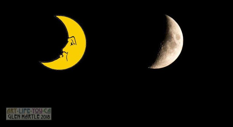 In tonight's moon, I really see the inspiration behind The Man In The Moon:
