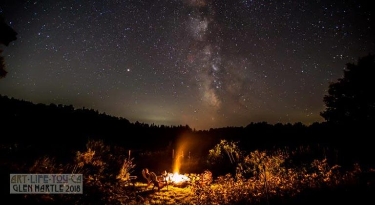 These summer nights: a bonfire while admiring the Milky Way.