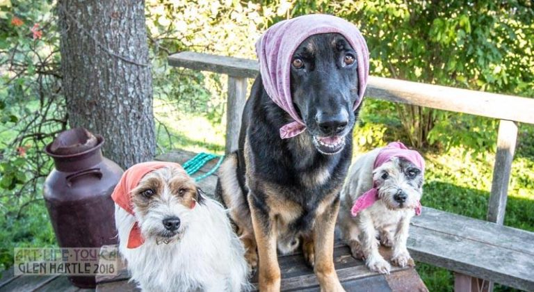 Playing babushka with the kids – good thing they are patient with me :)
