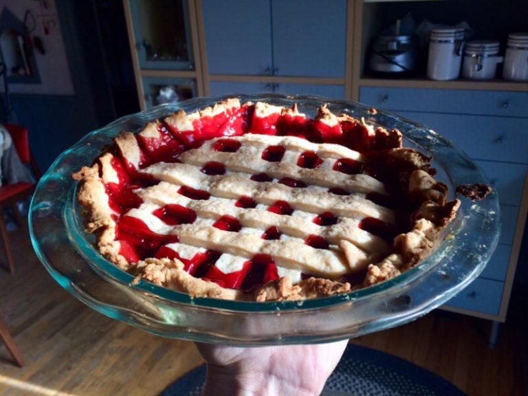 Ta-da!! Grey Cup Cherry Pie