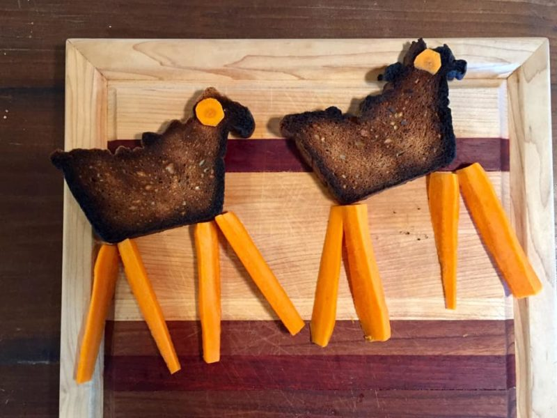 Starting the day off proper with llama toasts!!