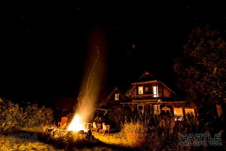 Clear nights make for toasted marshmallows … once the fire burns down a bit …
