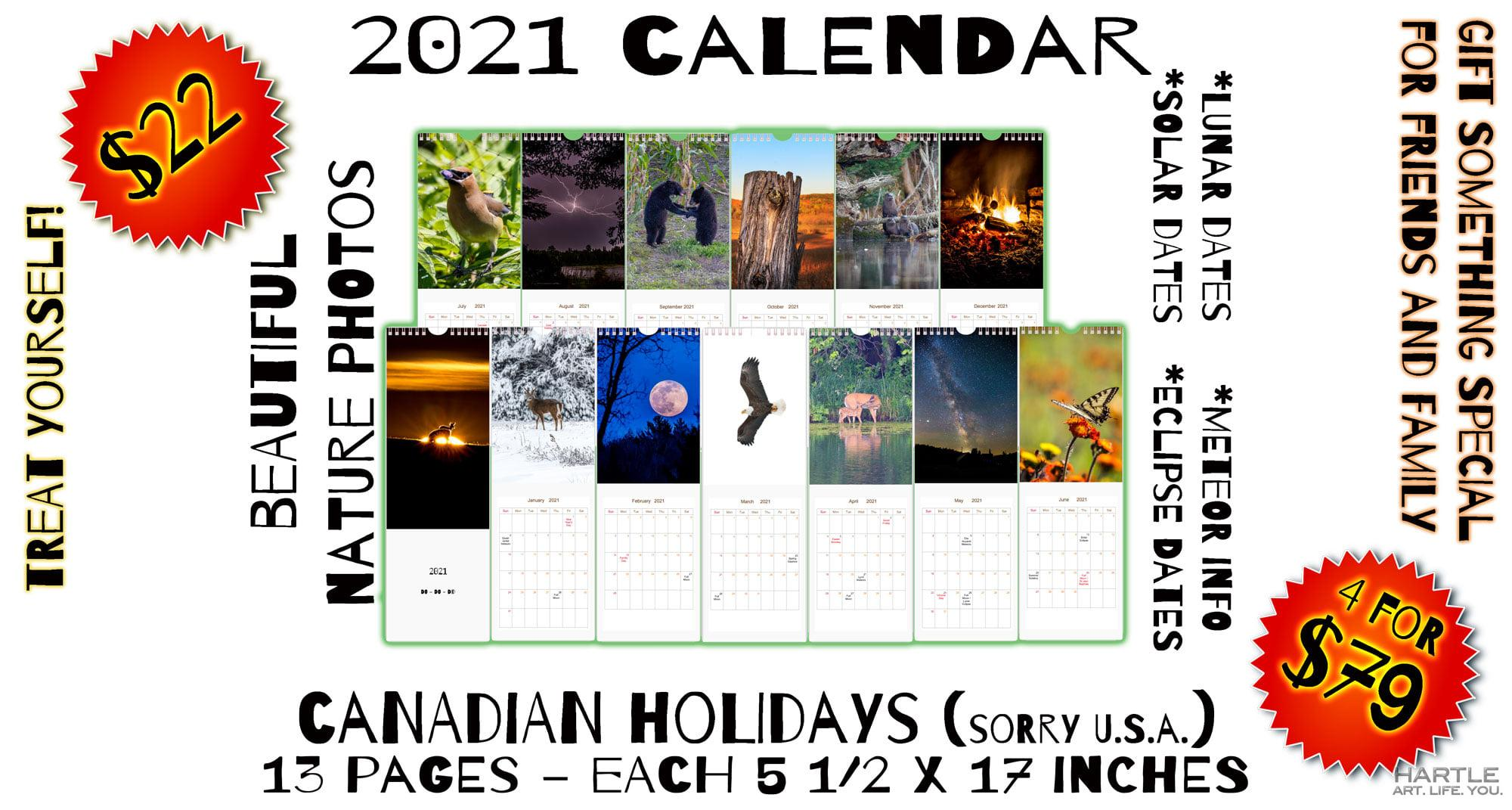 13 of my photos coiled together in an amazing calendar.  You know you want one!