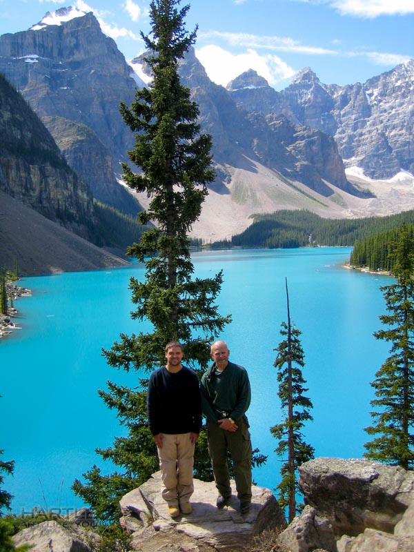 Dad & I – Moraine Lake