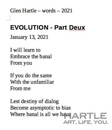 EVOLUTION – Part Deux