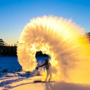 A cool & crisp winter day FULL of possibility deserving of a fire & ice shout-out!