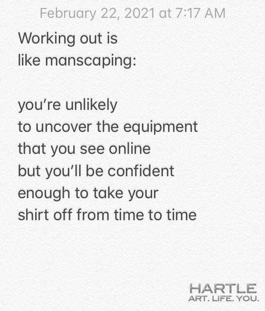 manscaping …
