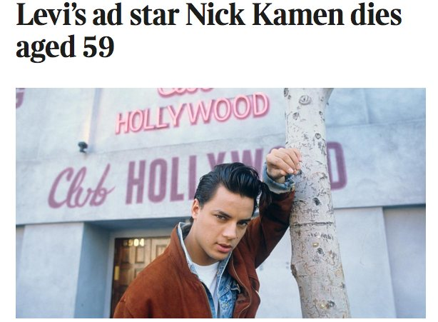 Nick Kamen … I can see why this hit the right notes