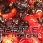 Today's jam-apalooza: cherry & haskap
